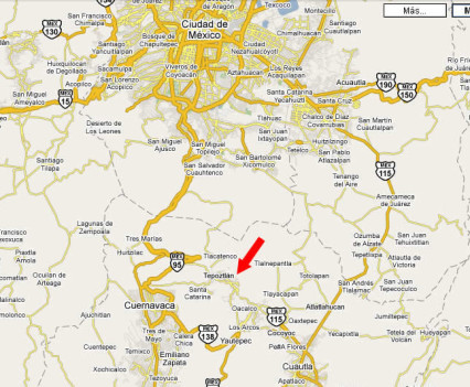 Mapa 1: Casa de la Vida en Tepoztlán, México