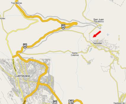 Mapa 2: Casa de la Vida en Tepoztlán, México