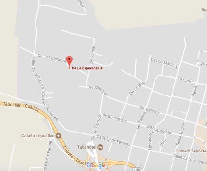 Map 6: Casa de la Vida, Tepoztlan, Mexico